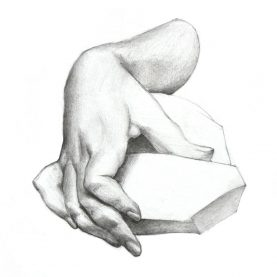 Hand and rock